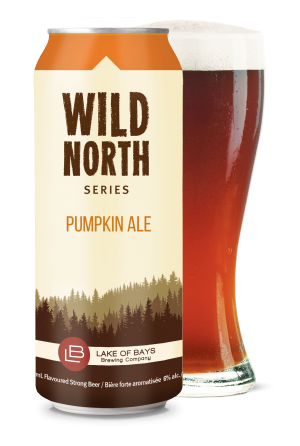 Wild North Series: Pumpkin Ale Can and Glass