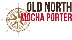 Old North Mocha Porter with vintage compas