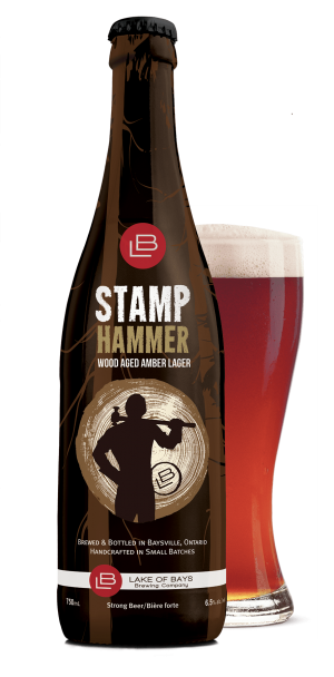 Stamp Hammer Bottle and Glass