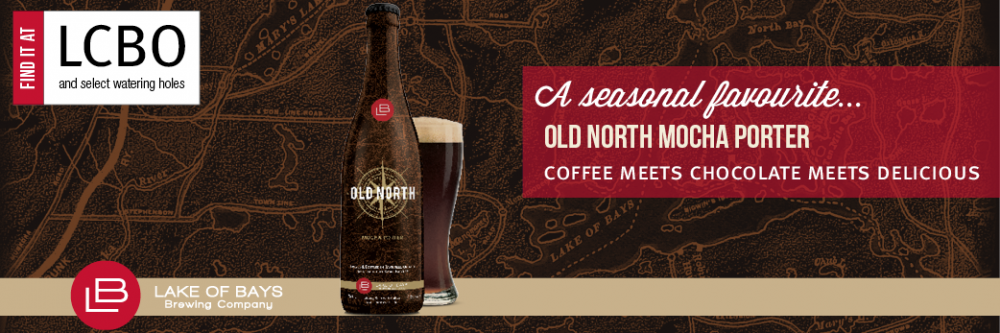 Available at the LCBO, Old North Mocha Porter is a seasonal favourite.
