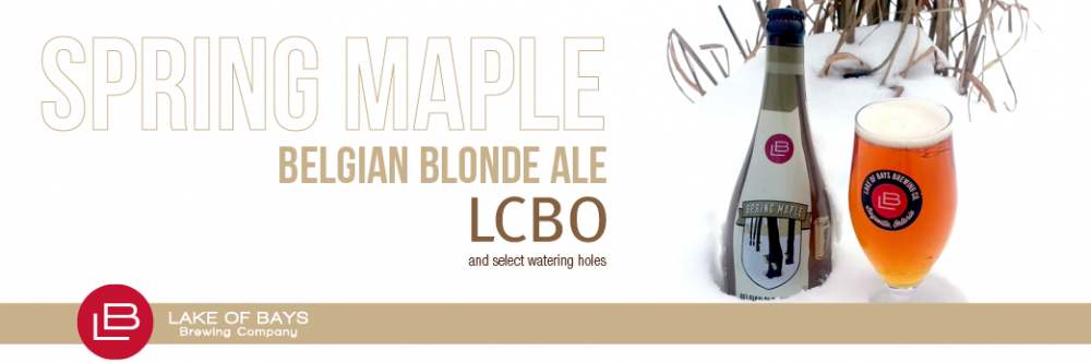 Spring Maple Belgian Blonde Ale available at the LCBO
