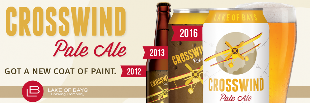 Crosswind Pale Ale got a new coat of paint.