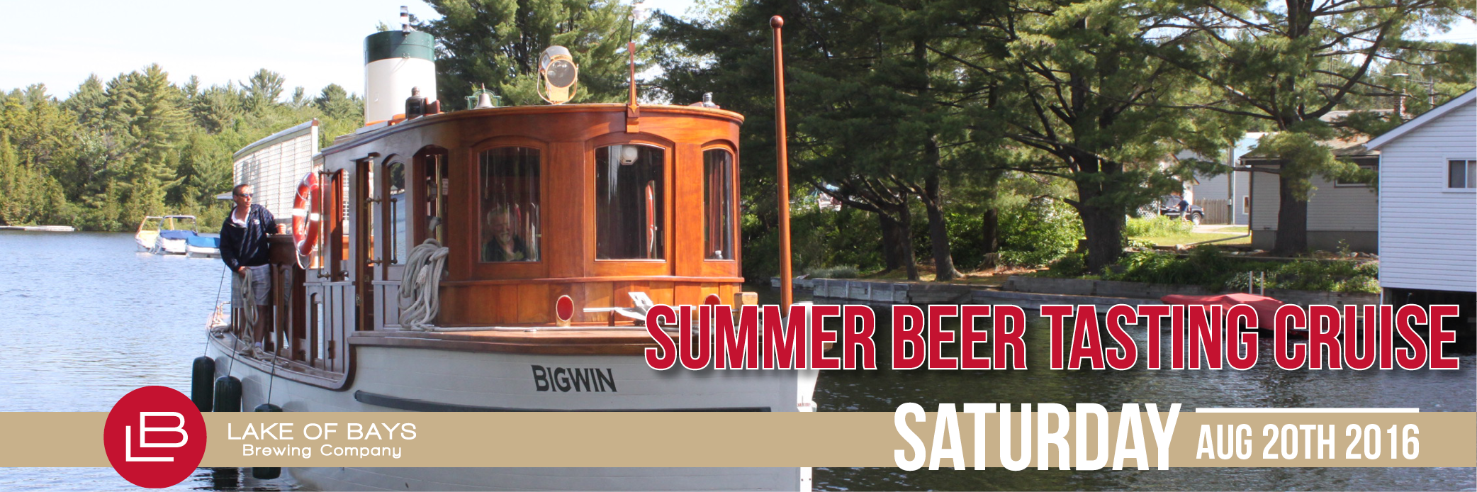 Summer Beer Tasting Cruise. Saturday, August 20th, 2016