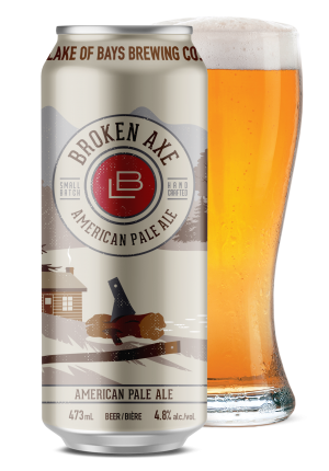 Broken Axe APA Can and glass
